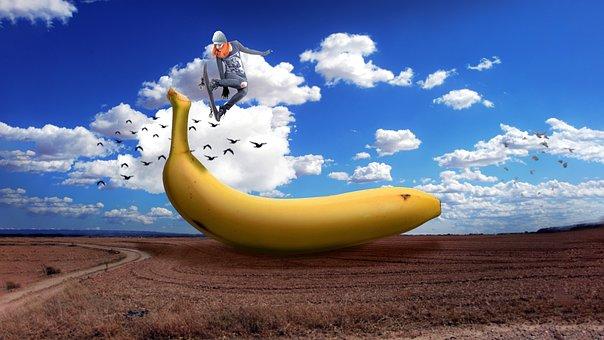 Banana, Skate, Day, Skating, Summer, People, Happy
