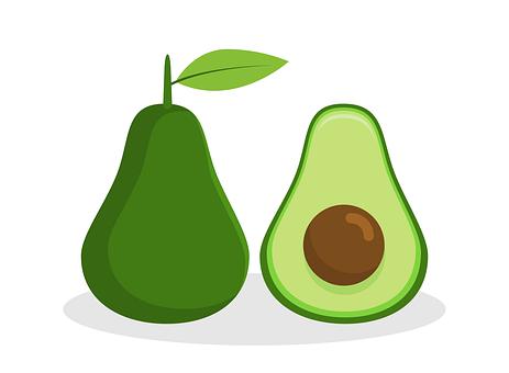 Food, Avocado, Flat, Design, Fruit