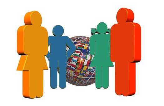 Family, Flags, Globe, Globalization