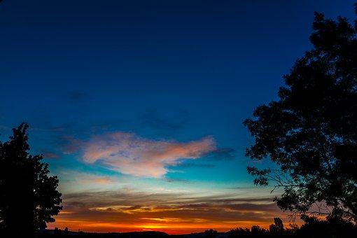 Sunrise, Sky, Colors, Trees, Landscape, Morning, Early