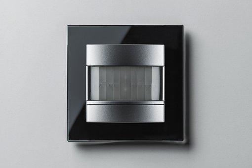 Automatic Switch, Motion Detector, Black, Aluminium