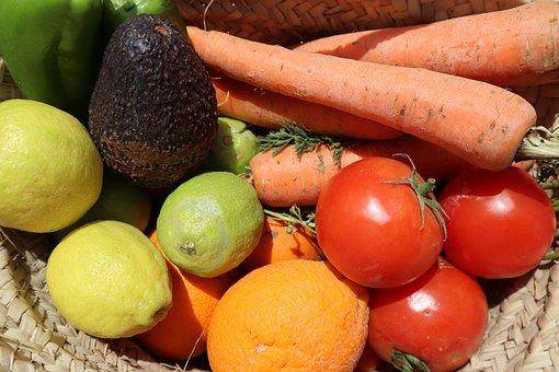 Vegetables, Fruit, Raw, Organic