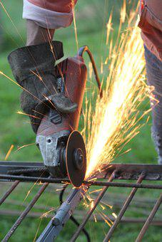 Welding, Fire, Construction, Work, Sparks, Friction