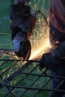 Work, Welding, Welder, Fire, Metallurgy, Metal, Sparks