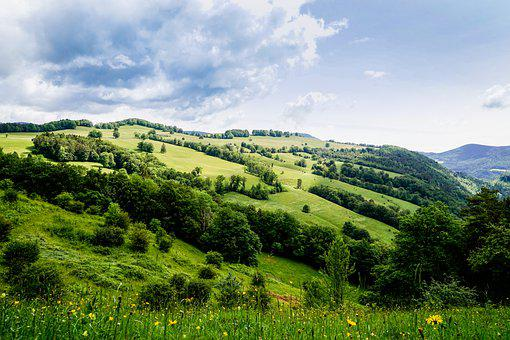 Switzerland, Solothurn, The Nature Park Thal, Mountains