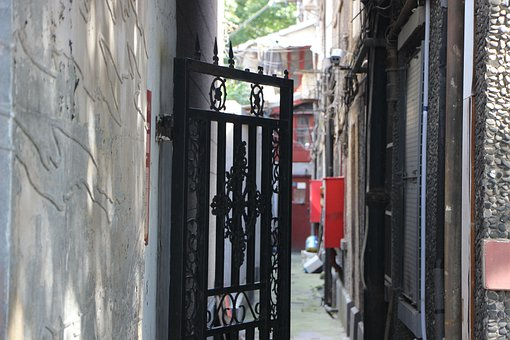 Old House, Old Building, Door, Doorway, Duolun Road