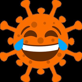 Corona, Laugh, Orange, Emoji, Icon, Virus, Pandemic