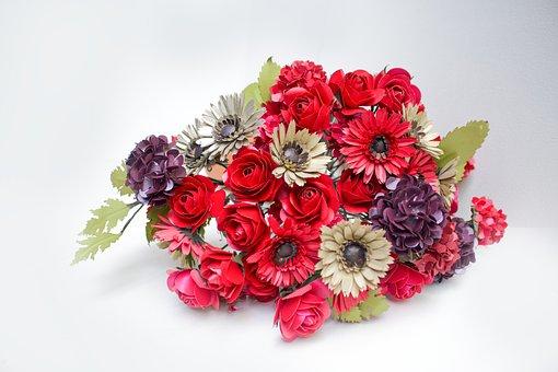 Paper, Paper Flower, Flower, Design, Rose, Daisy