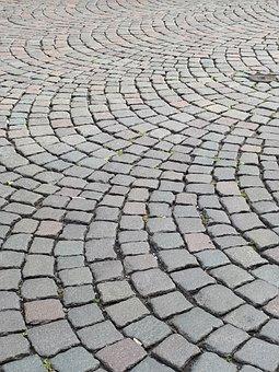 Grey, Patch, Stones, Away, Cobblestones, Ground