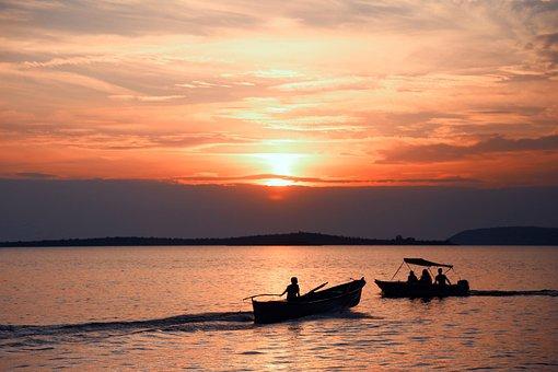 Sunset, Boats, Offer, Reflection, Turkey, Coaster