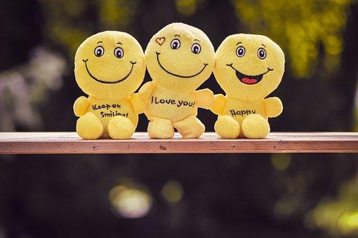 Smilies, Plush, Yellow, Emoticon, Funny, Emotion, Happy
