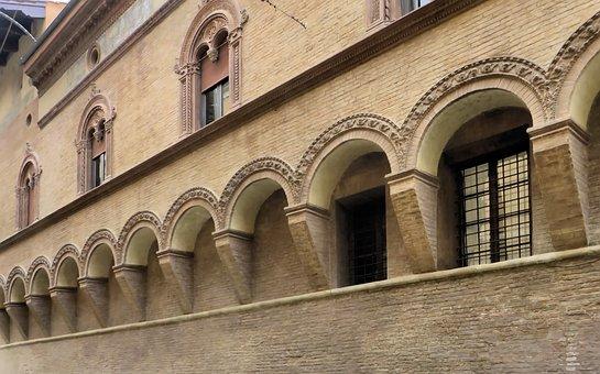 Italy, Bologna, Hotel City, Facade, Vaults, Building