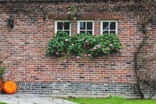 Front, House, Decor, Autumn, Building
