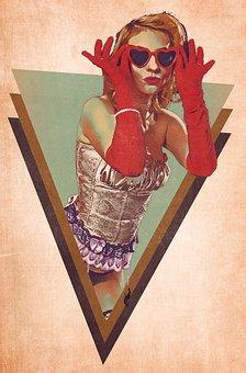 Burlesque, Woman, Girl, Female, Pinup, Model, Portrait