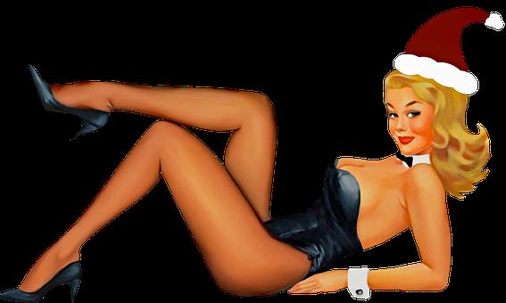 Pin Up Christmas Girl, Christmas, Sexy Girl, Holiday