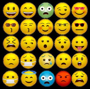 Emoticons, Happy Faces, Covid-19 Mask, Smiley, Emoji