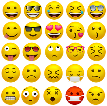 Emoticons, Happy Faces, Covid-19 Mask, Smiley, Emoji