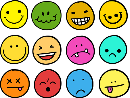 Emotions, Emoji, Emoticons, Icons, Comic, Smiley, Face