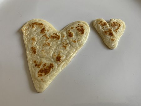 Pancakes, Heart, Cooking, Love, Breakfast, Plate