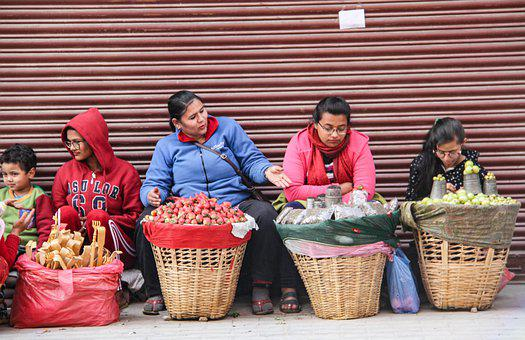 Street Market, Nepal, Kathmandu, Market Of Nepal