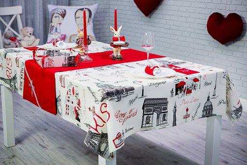 Set The Table, Valentine's Day, Napkin, Table, Elegant