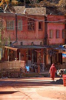 Morocco, High Atlas, Mountain, Marrakech, Africa, Man