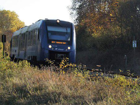 Train, Railway, Diesel Railcar, Lint, Alsenz Railway