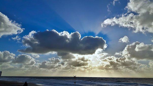 Sylt, Clouds, Sun, Corona, Beach, Beach Chair, Blue
