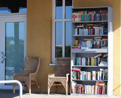 Books, Cabinet, Shelf, Rest, Chairs, Library, Knowledge