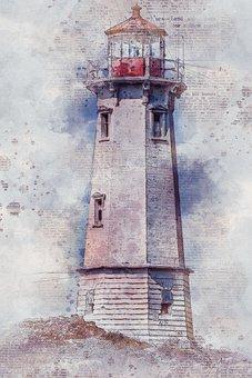 Lighthouse, Canada, America, Dramatic, Shore, Atlantic