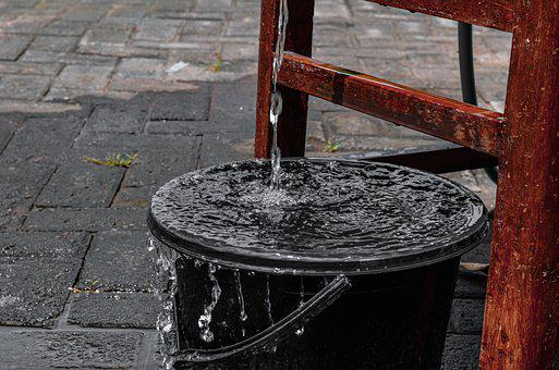 Water, Buckets, Chocolates, Chairs, Water Droplets