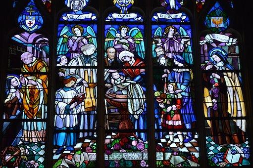 Stained Glass, Window, Church, Alençon, Color
