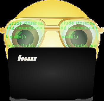 Graphic, Programmer Smiley, Emoji Programmer, Emoticon