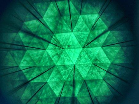 Design, Art, Green, Tile, Hexagons, Combs, Graphic