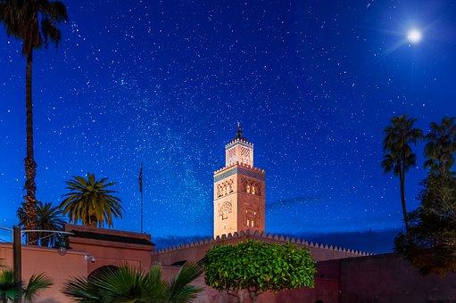 Morocco, Marrakech, Mosque, Travel, Culture, Muslim