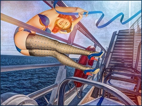 Boat, Ship, Pin Up Girl, Party, New Year's Eve