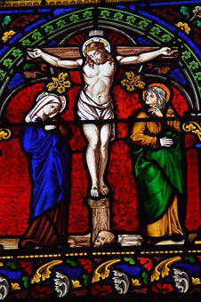 Stained Glass, Window, Church, Cathedral, Death, Cross