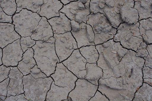 Cracked Ground, Cracked Mud, Background, Texture