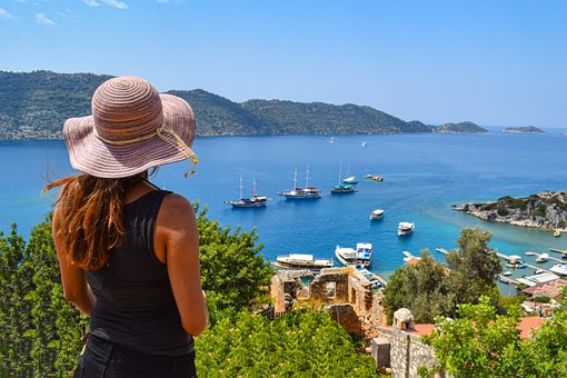 Woman, People, Tourism, Hat, Summer, Turkey, Holiday