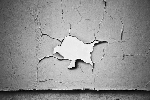 Crack, Paint, Wall, Pattern, Old, Grunge, Rough