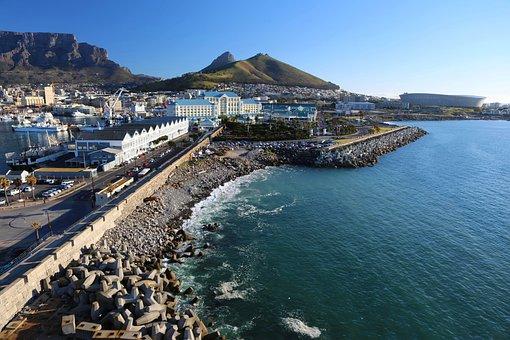Cape Town, South Africa, City, Coast, Landscape