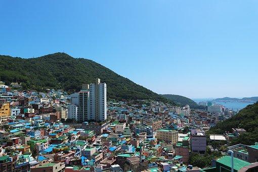 South Korea, City, Culture, Village, Sea