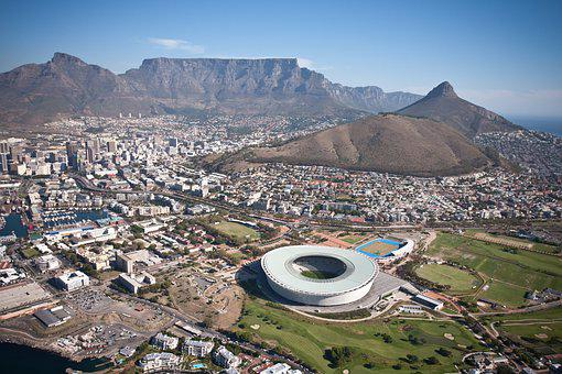 Cape Town, Stadium, Aerial, Helicopter, Table Mountain