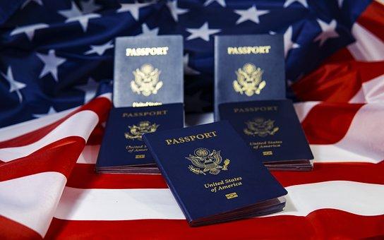 Passport, America, Flag, Immigration, Travel, Visa