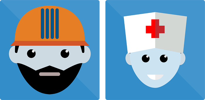 Logo, Icon, App, Face, Man, Men, Doctor, Medic