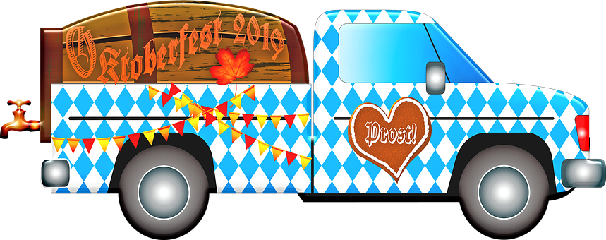 Oktoberfest Truck, Oktoberfest Beer, German Flag, Girl