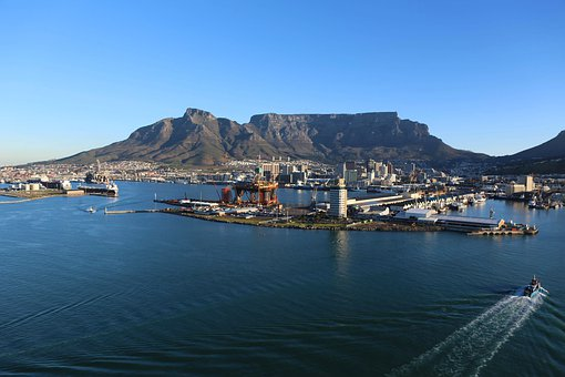 Cape Town, South Africa, Table Mountain, City, Coast