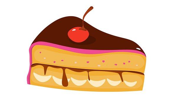Slice, Cake, Tiramisu, Pie, Sweet, Cherry, Bake, Sweets