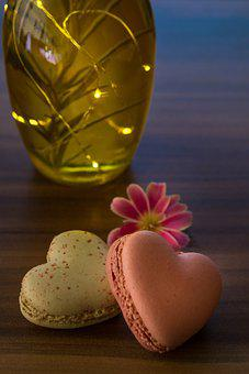 Macarons, Heart Shape, Love, Affection, Symbol, Blossom