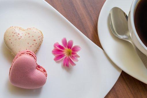 Macarons, Heart Shape, Love, Affection, Symbol, Blossom